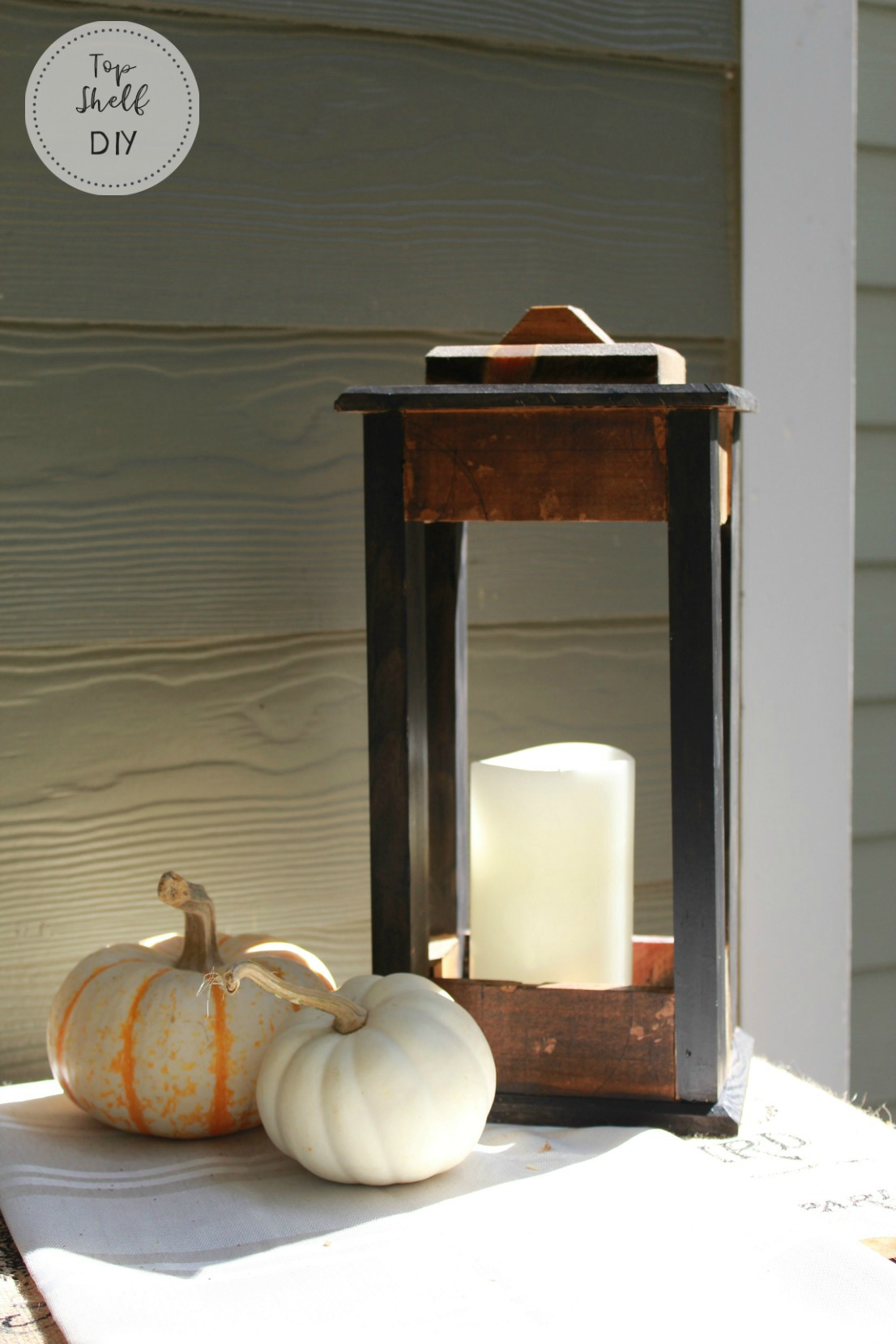 Make this lantern from a repurposed wine crate!