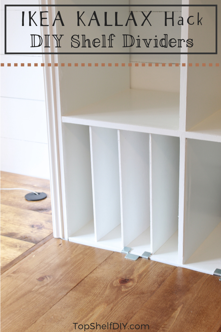 How to add dividers to your Kallax with a secret slot system no one can see! #ikeahack #kallax #office #organization