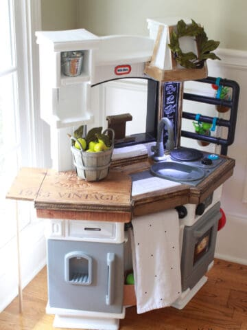 Beadboard? Check. Chalkboard sign? Check. Butcher block countertops? Check. Get the latest fisher price hack tutorial here!