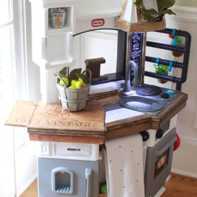 The Wine Crate Files: Add a Drop Leaf Table to Your Little Tikes Kitchen