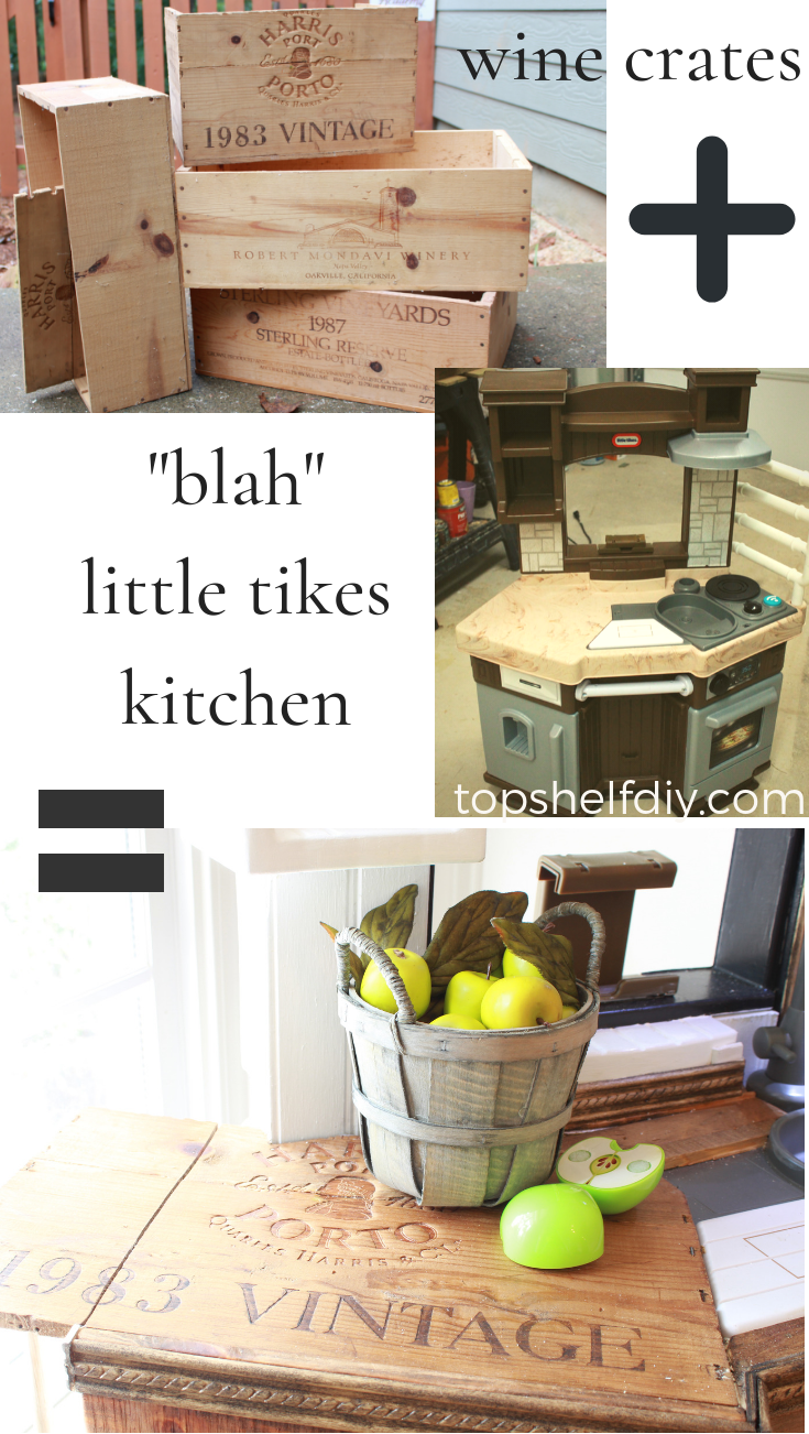 Learn how to add a drop leaf table to your kid's kitchen following this farmhouse hack tutorial!