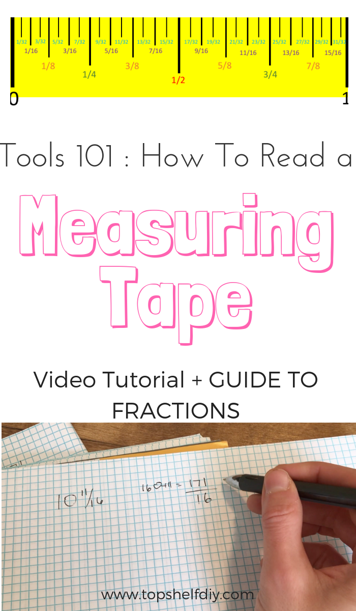 One of the first things to master in the DIY space is reading a measuring tape down to the 1/32nd of an inch. This is a helpful guide to not only reading your tape but also ensuring accurate cuts when using power tools. #tools101 #powertools