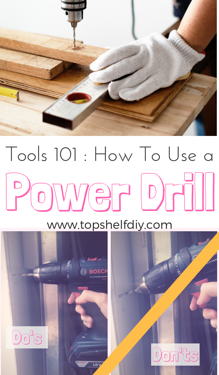 New to DIY? Here's what to know about getting started with the easiest and best power tool to have in your shop. #powertools #diy #handywoman