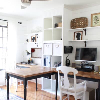 His and Hers Farmhouse Office Reveal