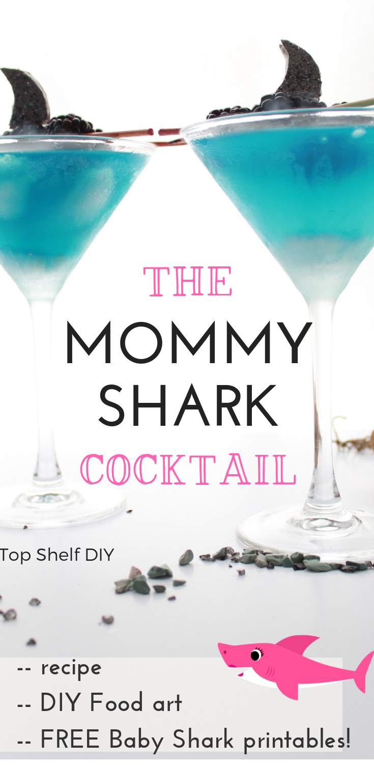 If you're stuck in baby shark territory, here's something to take the edge off. #momcocktail #babyshark