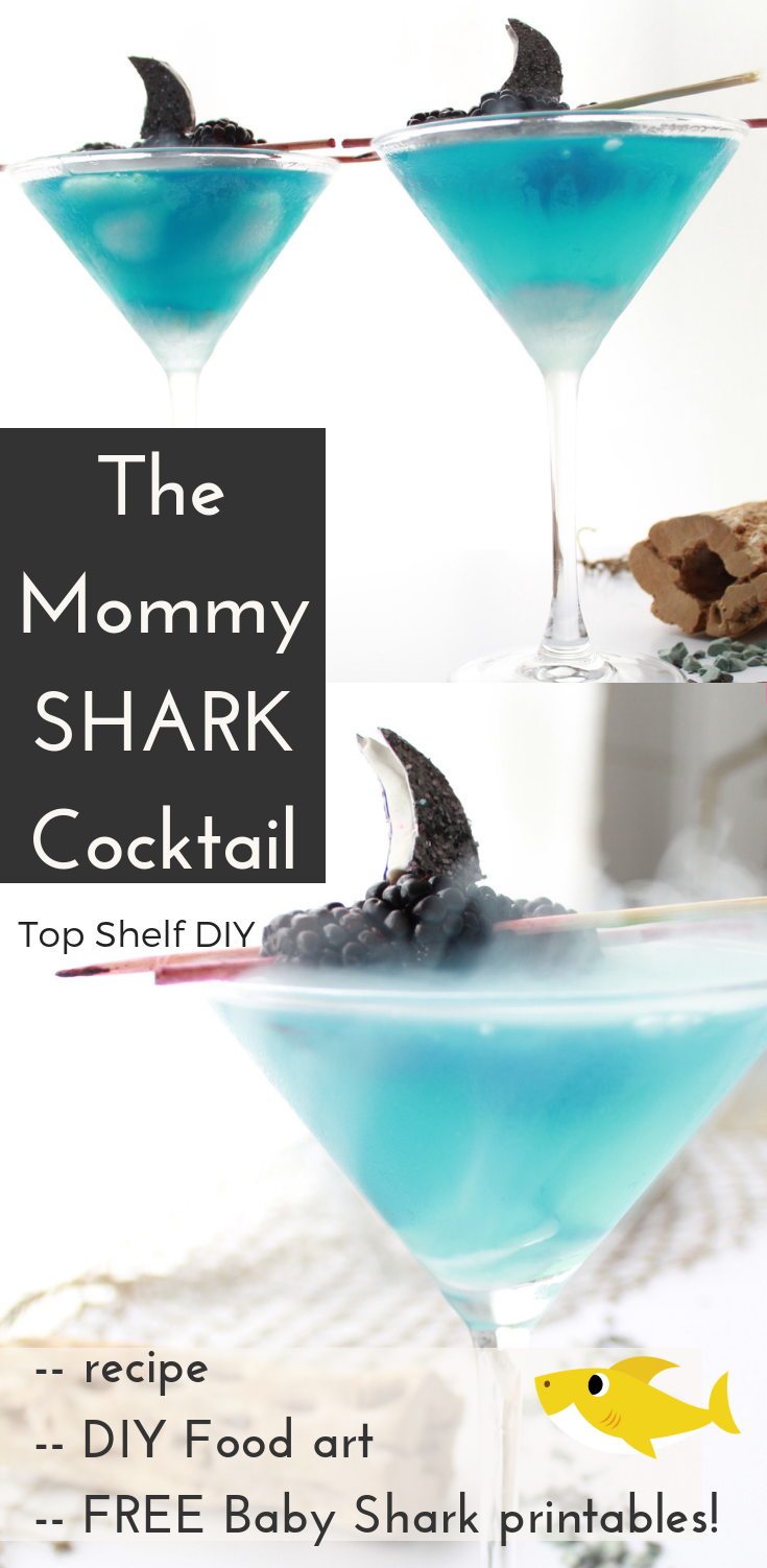 Who says your kids get to have all the fun? Grab this Mommy Shark cocktail recipe and suddenly you'll be thankful for the song's existence. #babyshark #mommyshark