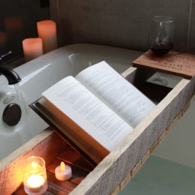 How to Make a Bath Shelf from Reclaimed Wood