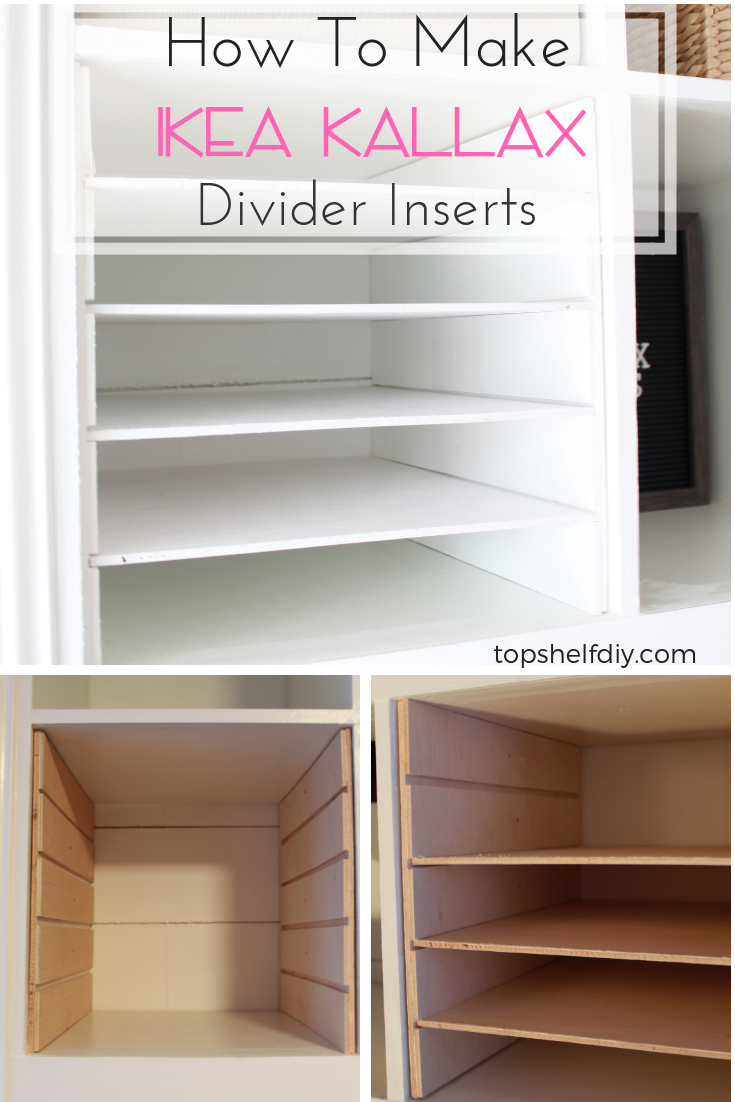 Love Ikea Hacks? Make these divider units for about $3 a piece and get all of your materials organized! #ikeahacks #ikea