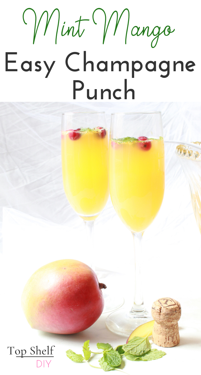Get this easy champagne recipe with a large helping of Vitamin C to start the new year off right! #newyearseve #cocktailrecipes #easychampagnepunch #momcocktails