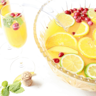 Easy Champagne Punch Recipe: Modest Mint Mango