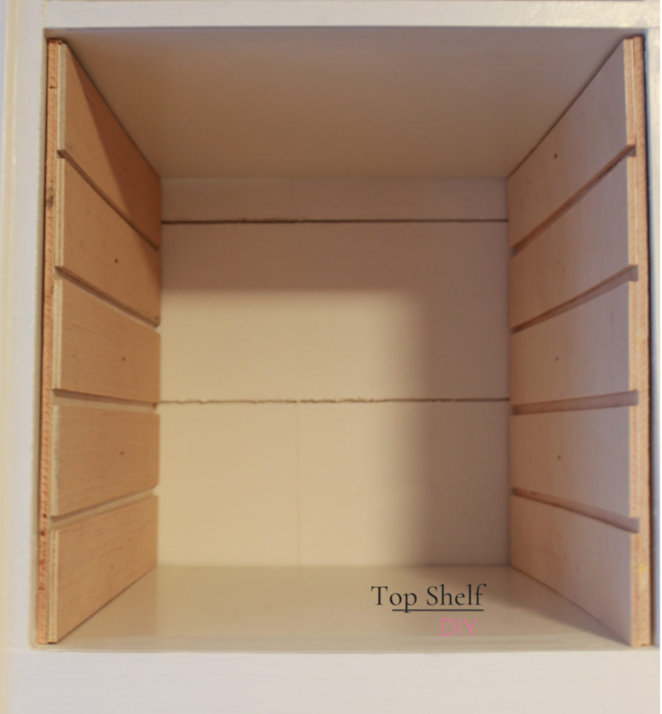 determine how to make Kallax cubby shelf dividers following this step-by-step tutorial! #ikeahack #kallaxunit