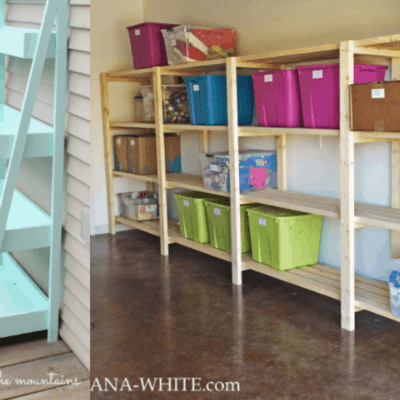 How Builder Moms Get Organized: 4 DIY Shelving Options for Every Room in Your House