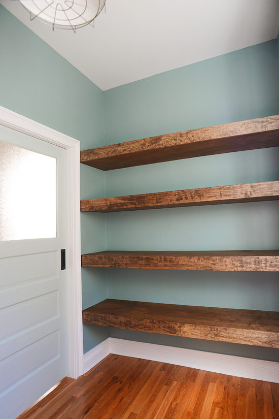 photo credit: Yellow Brick Home, floating shelves. #shelving #organization