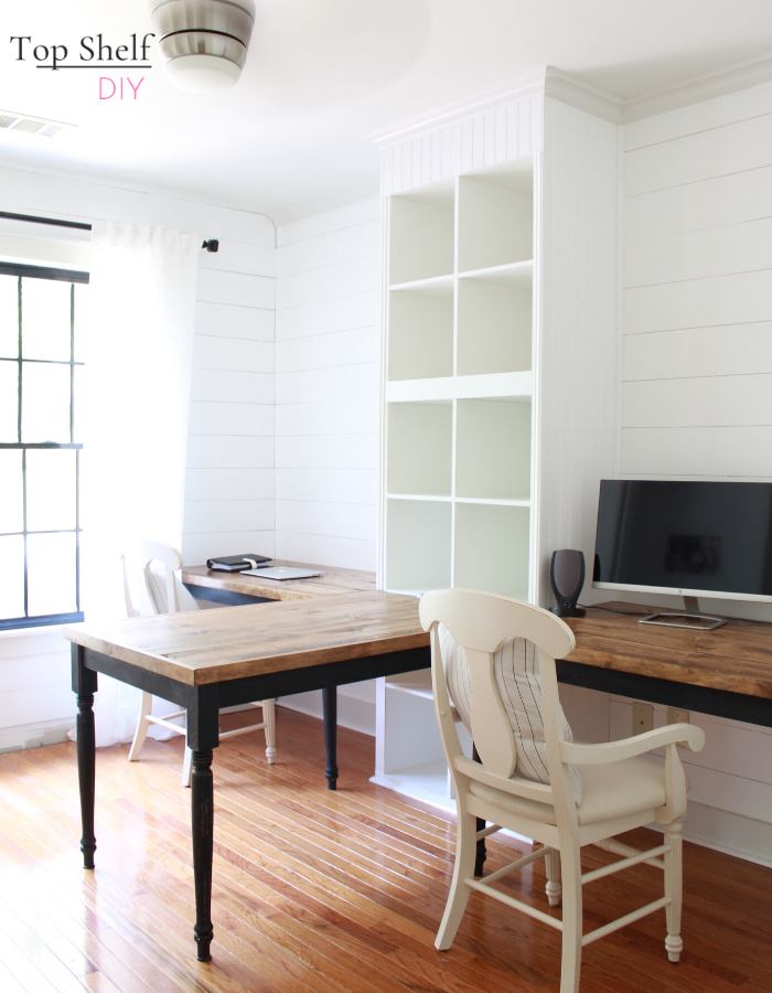 Hack your way to this Ikea Kallax 3-unit desk, and get the home office of your dreams. Complete with free build plans!