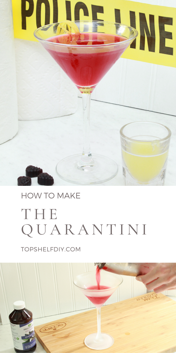 Sweet notes of elderberry and citrus make this cocktail the perfect stay-in-place beverage. #cocktails #momcocktails @cocktailrecipes #quarantine @quarantinehacks