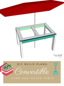 Patio table doubles as babysitter and bartender on hot summer days. Get the free plans here!