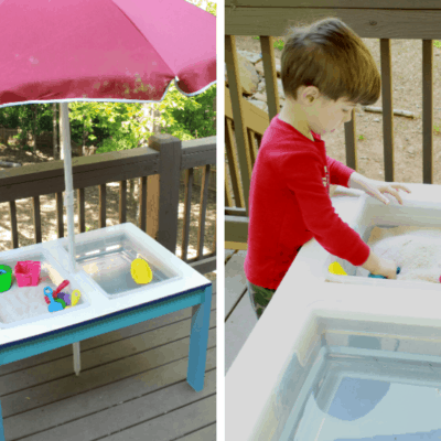 DIY Convertible Sand and Water Table with Beer Cooler Option