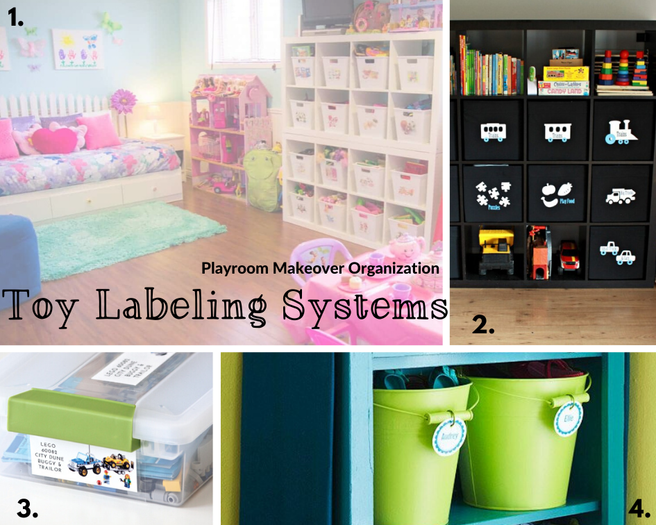 Toy Label Organization options; a wide array to choose from to keep your playroom organized!