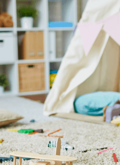 Looking to deep clean your kids' playroom? Here's how to prepare yourself for battle.