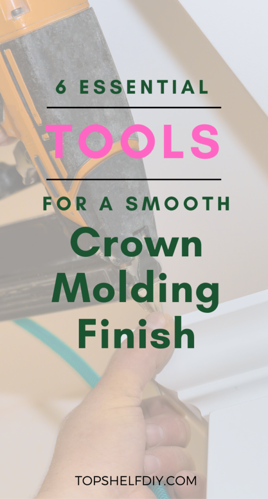 The class is crown molding 101. Here are the tools you'll need to get the job done.