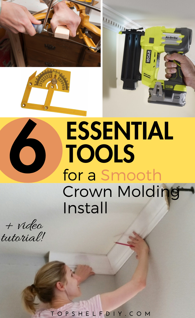 6 Essential tools for a seamless crown molding install. Welcome to the world of crown molding. Your adventure starts here.