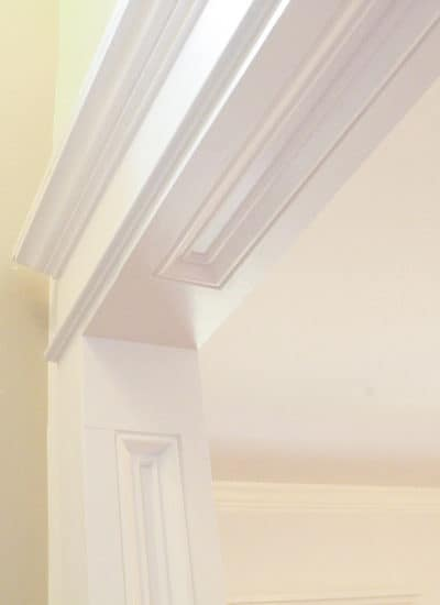 Take your interior doorway trim to the next level and make your doorways feel bigger at the same time.