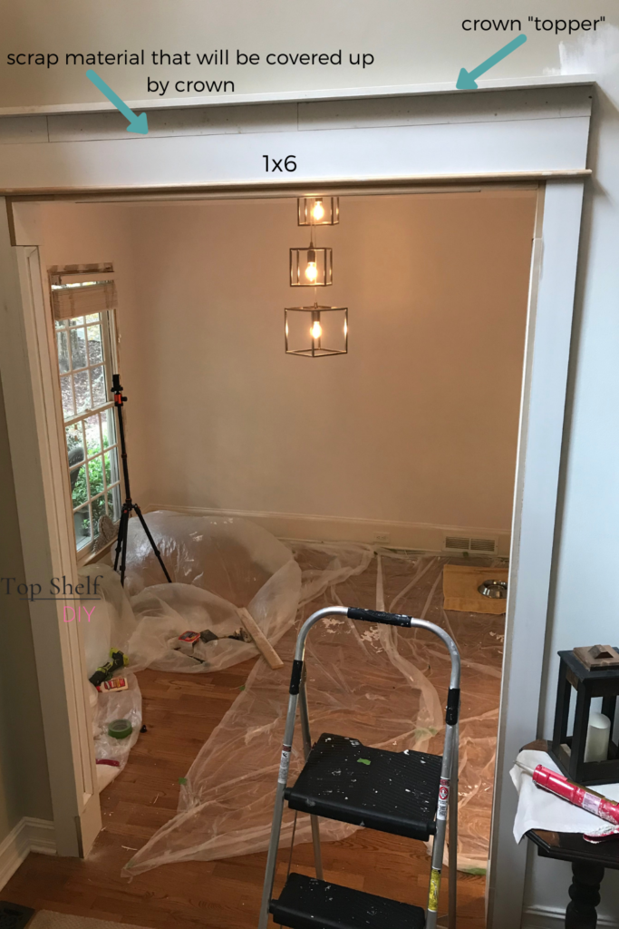 How we beefed up our interior doorway trim to create the illusion of a wider doorway!