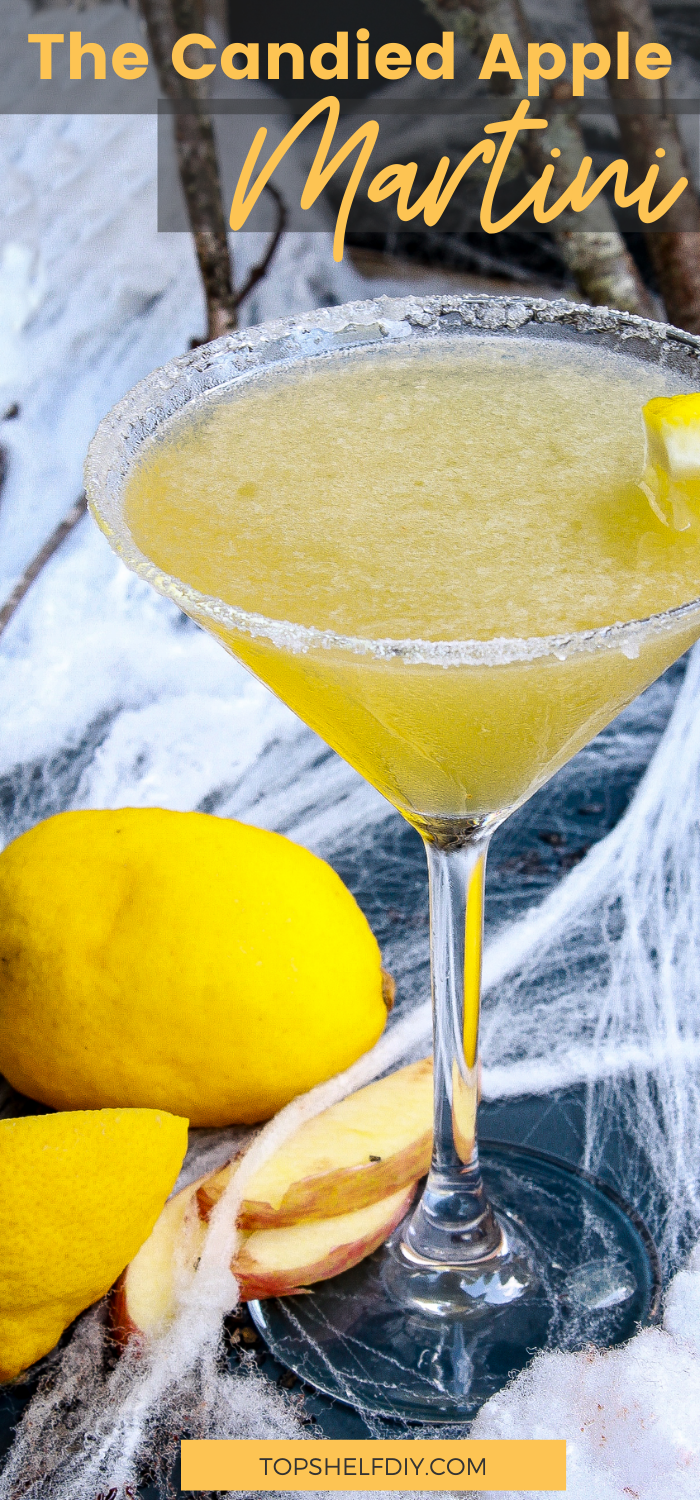One whiff of this martini, and cocktail hour will never be the same. Get the recipe for three Halloween Cocktail appletini variations. #Halloweentreat