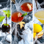 One whiff of the poison apple martini, and Snow White got her sexy back. Get the recipe for this Halloween Cocktail served three different ways. #Halloweentreat #Basiccocktailrecipes #Cocktailalcohol #Cocktailsmixology #Gotcocktails #Cocktails and pretty drinks #Drinksandcocktailrecipes #Cocktailhour
