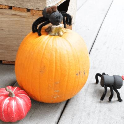 Halloween Wine Cork Spiders