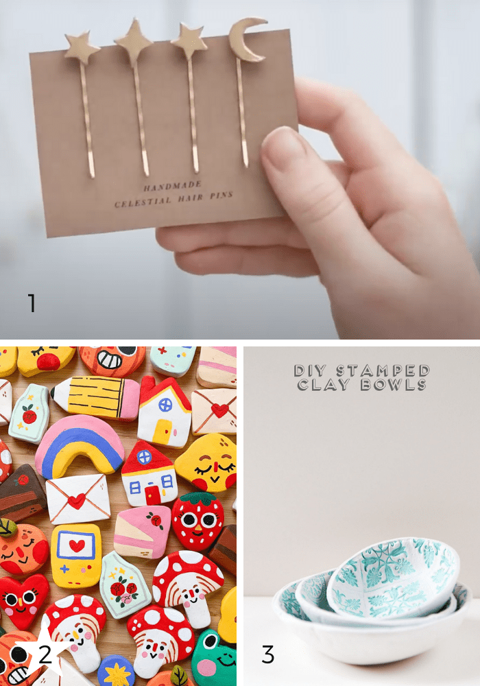 So many beautiful things to make with air dry clay. Here are three simply clay decor projects to make this holiday season!