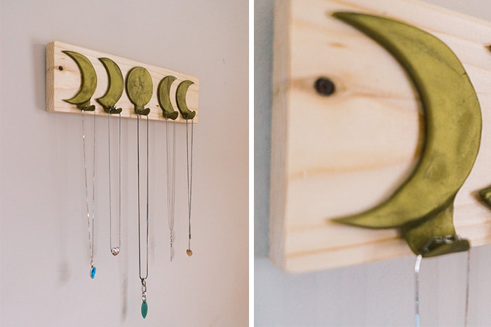 Three simple clay projects for your holiday decor, PLUS a bonus project; this lovely DIY jewelry hanger.