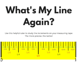 How to use a measuring tape to get accurate cuts