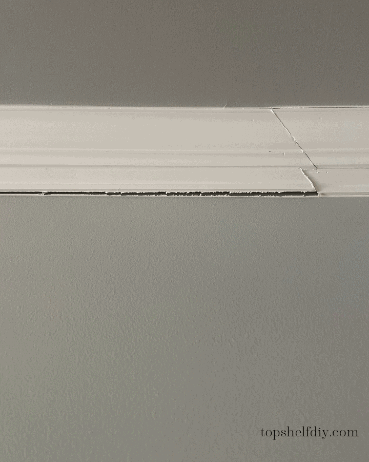 Missing end return when doing crown molding. Faux crown and a lack of backer board are just a few things people should be mindful of when installing crown.