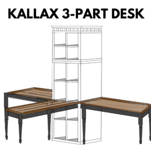 How to utilize the LINNMON connective hardware with a DIY desk for this Ikea KALLAX hack!