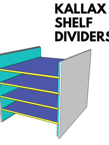 Learn how to make horizontal IKEA Kallax shelf dividers following simple plans available for download.