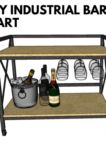 Learn how to make a fabulous DIY bar cart from aluminum tubing for your home bar!