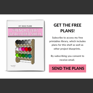 Get the free plans for this french cleat paint storage rack