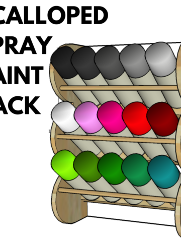 How to make a spray paint rack for your french cleat wall, complete with scalloped edging